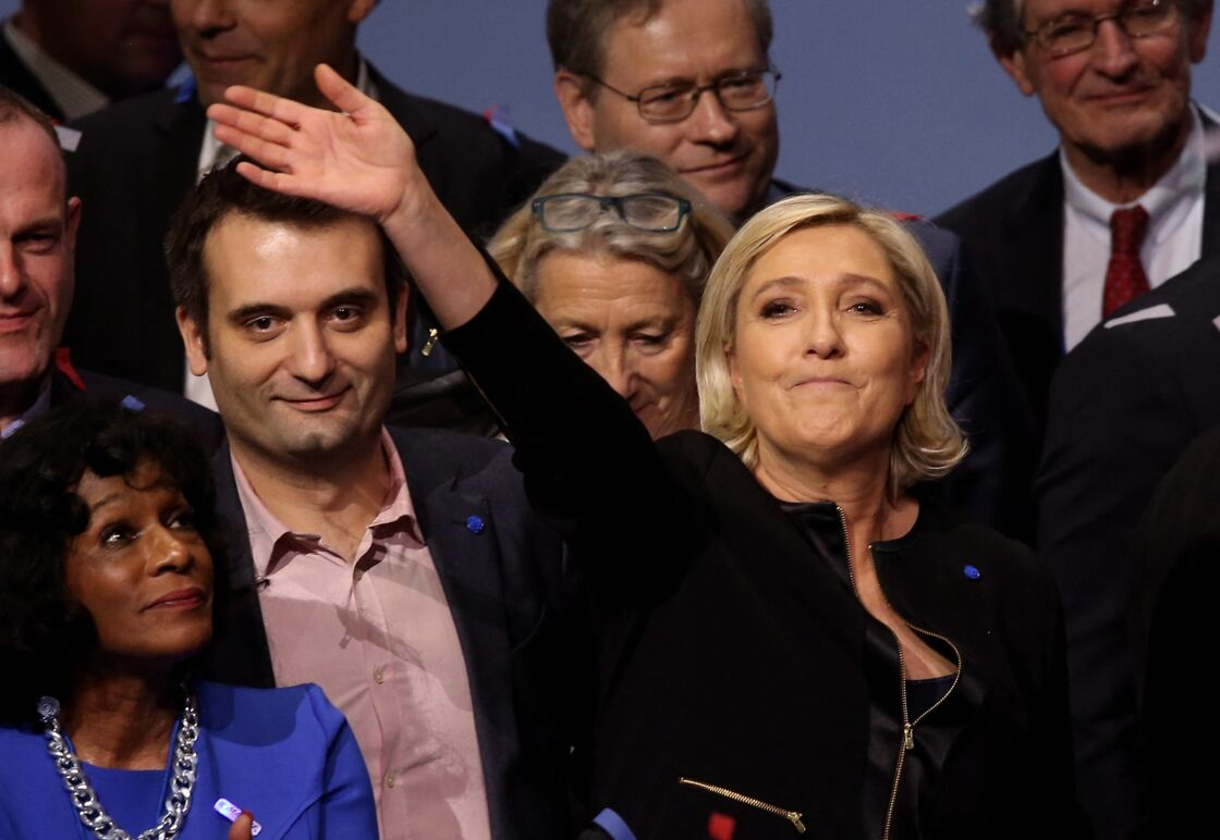 Florian Philippot assiste au discours de Marine Le Pen pour le lancement de sa campagne présidentielle, à Lyon, le 5 février 2017.