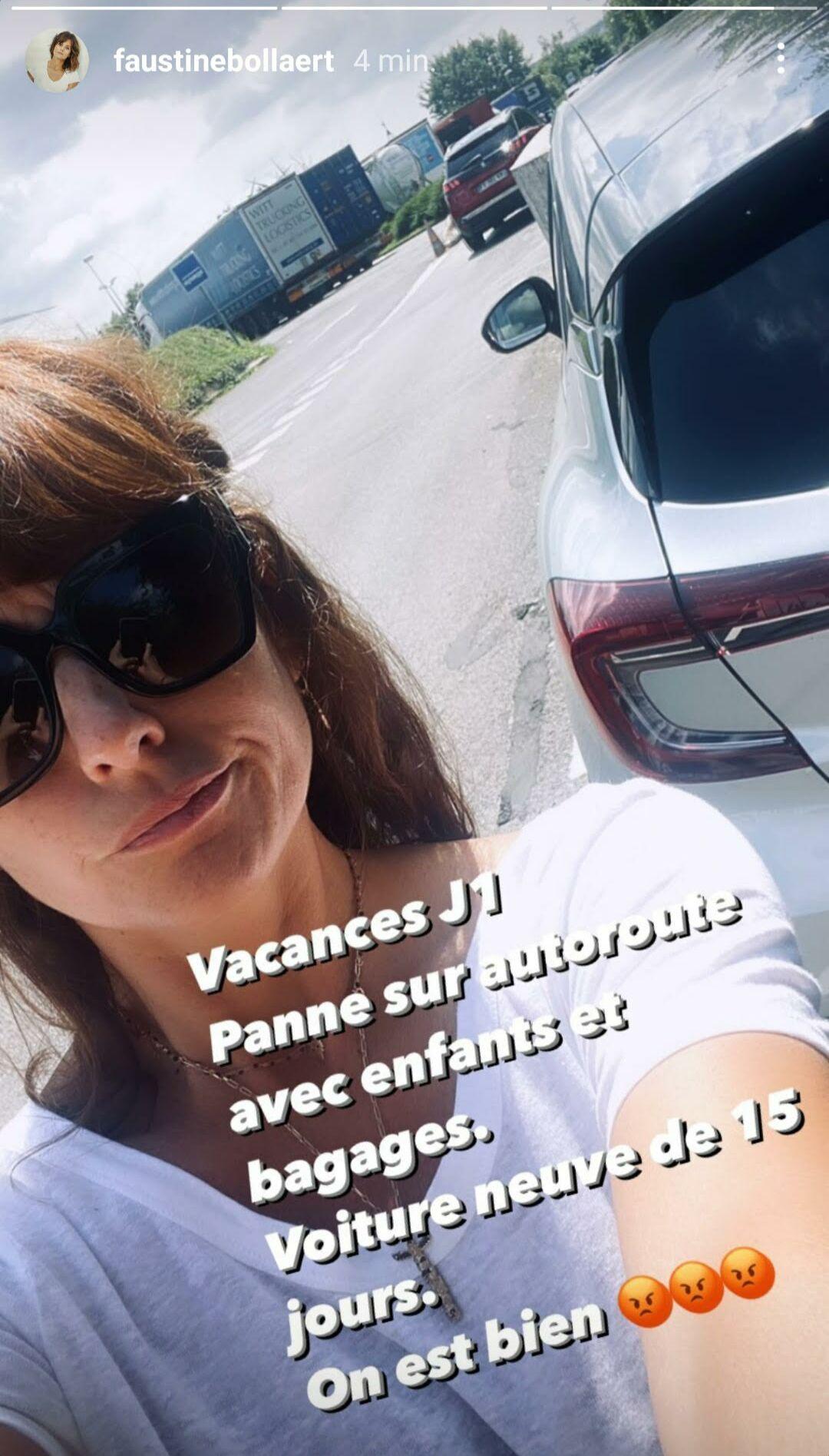 Les vacances de Faustine Bollaert commencent mal, comme elle l'a fait savoir sur Instagram, ce 16 juillet 2021