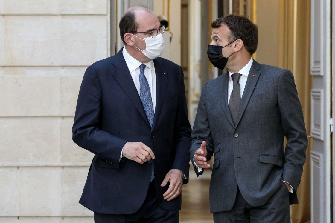 Jean Castex et Emmanuel Macron le 9 juin 2021 à l'Elysée.