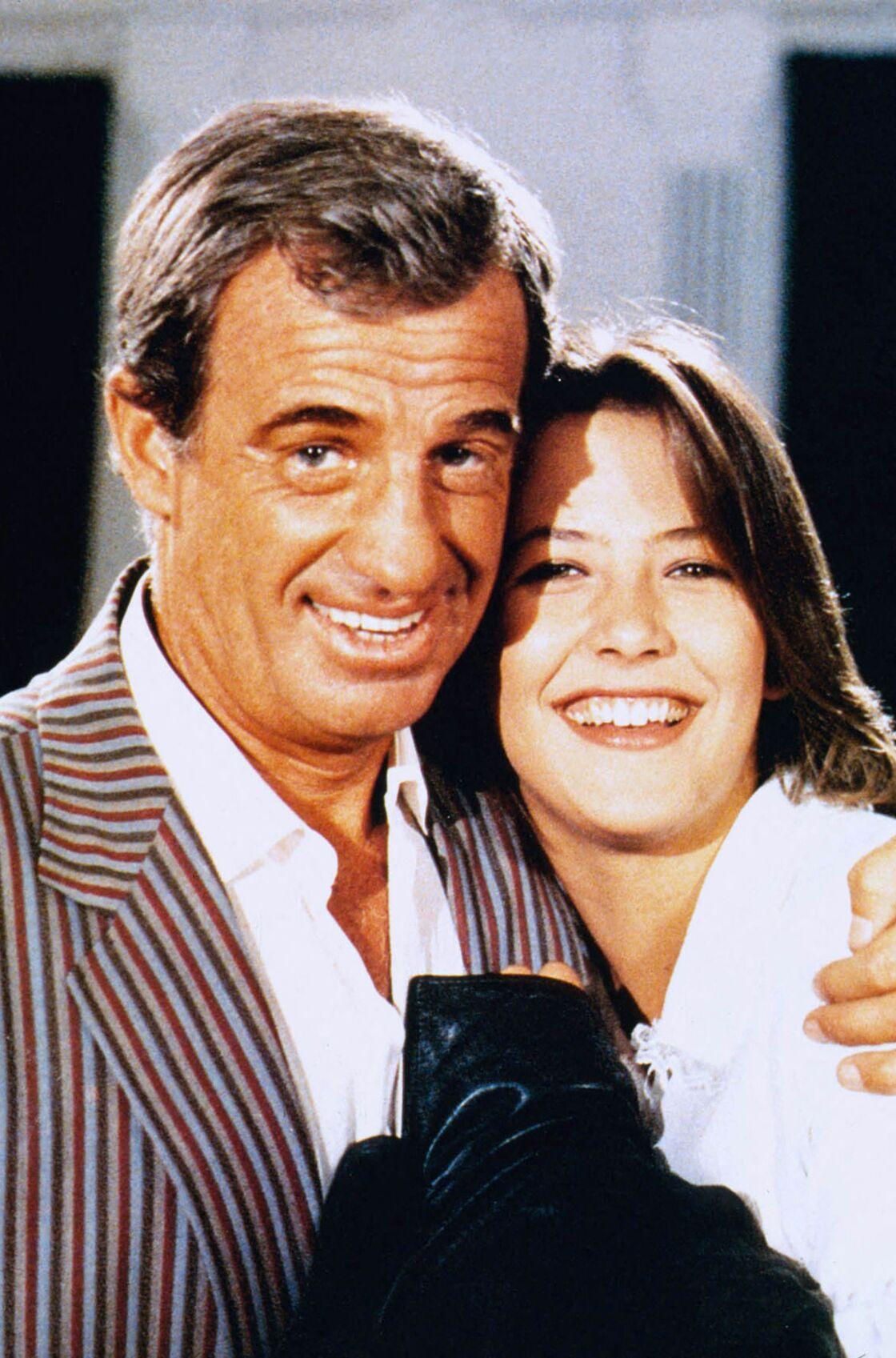 Jean-Paul Belmondo et Sophie Marceau sur le tournage de