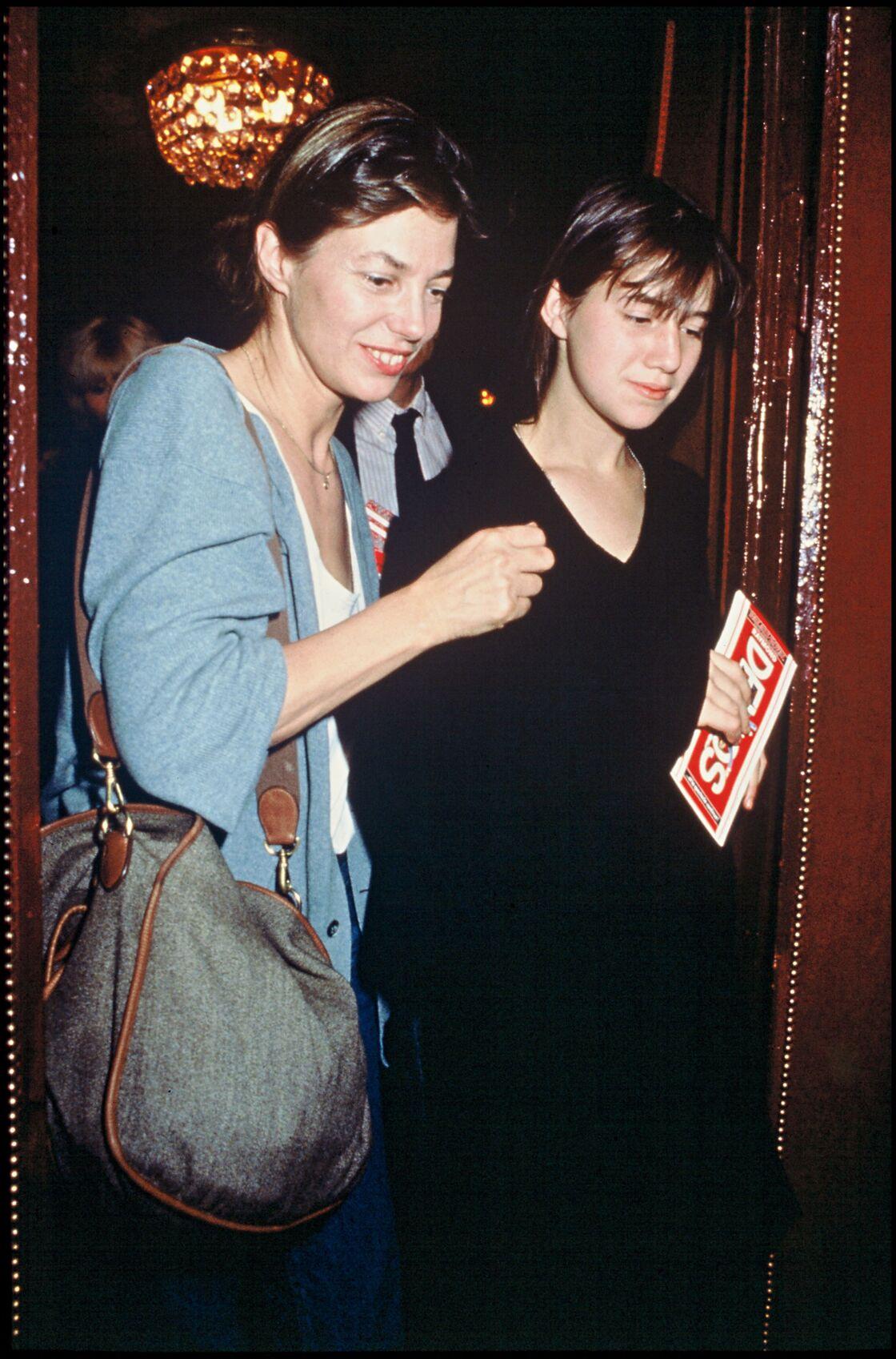 Jane Birkin et Charlotte Gainsbourg en 1989.