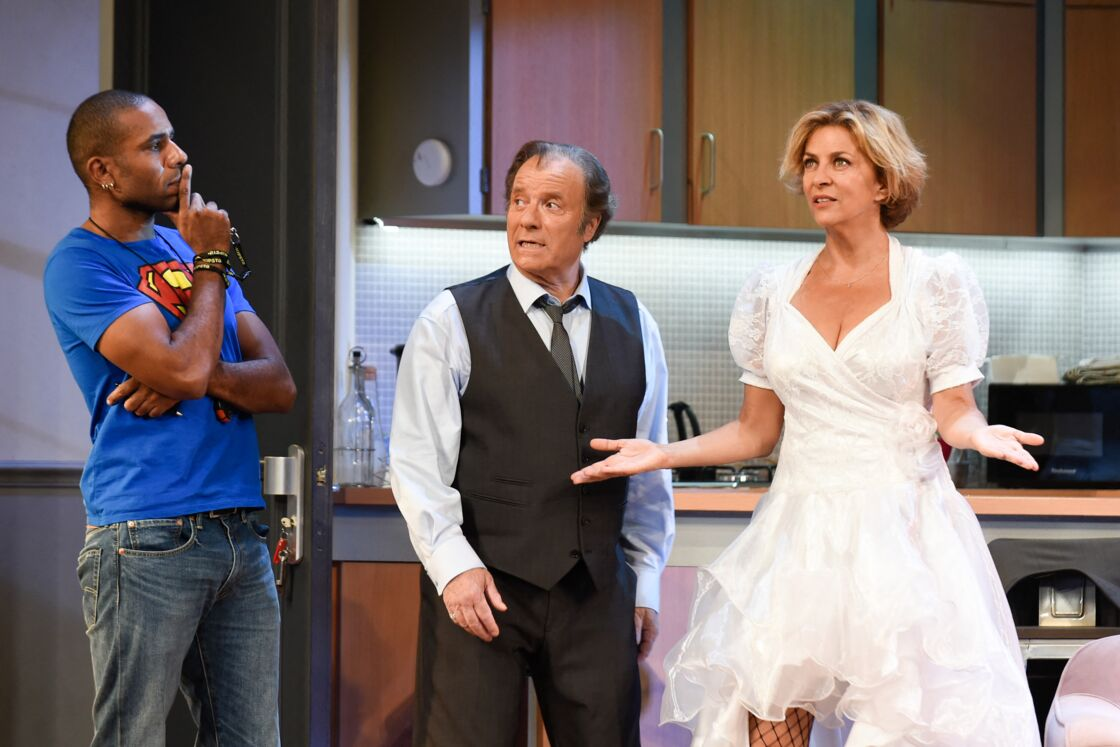 Loup-Denis Elion, Daniel Russo et Corinne Touzet, au filage de la pièce