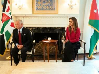 PHOTOS - Rania de Jordanie sublime pour soutenir son mari Abdallah II à Washington