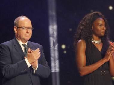 Albert II en compagnie de Muriel Hurtis au Sportel Awards