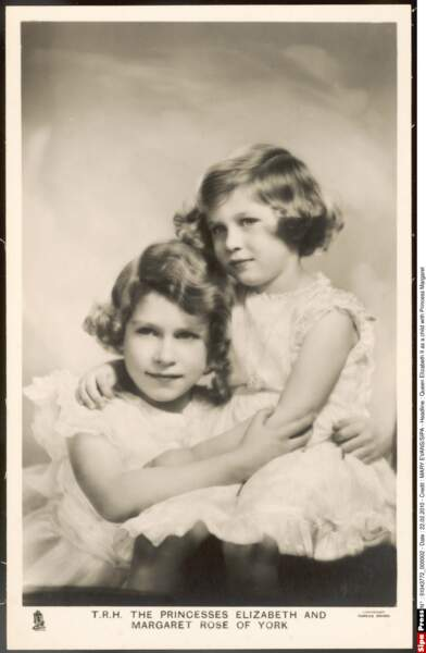 Elizabeth II et sa soeur Margaret