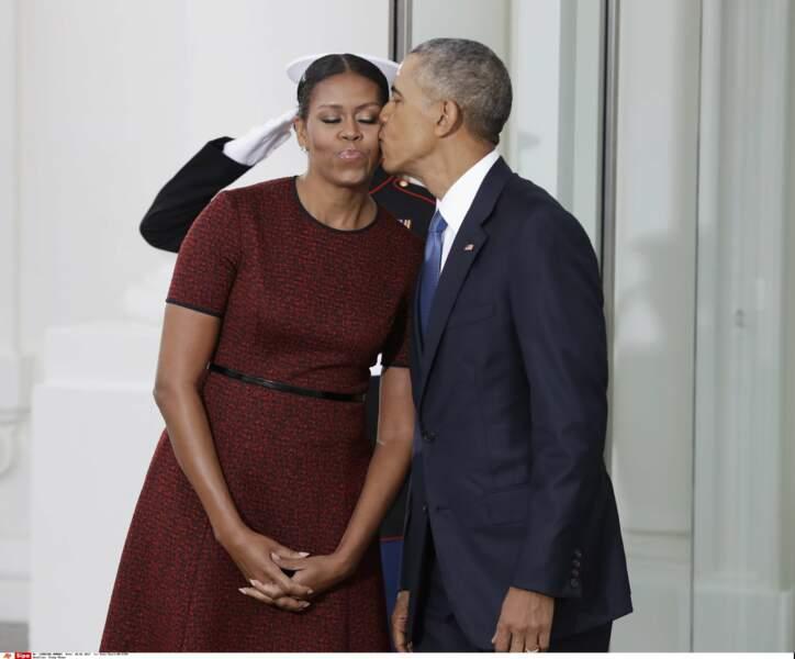 Barack Obama et sa femme Michelle se préparent à quitter la Maison blanche