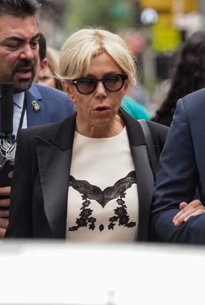 Brigitte Macron, sobre et toujours très chic à New York