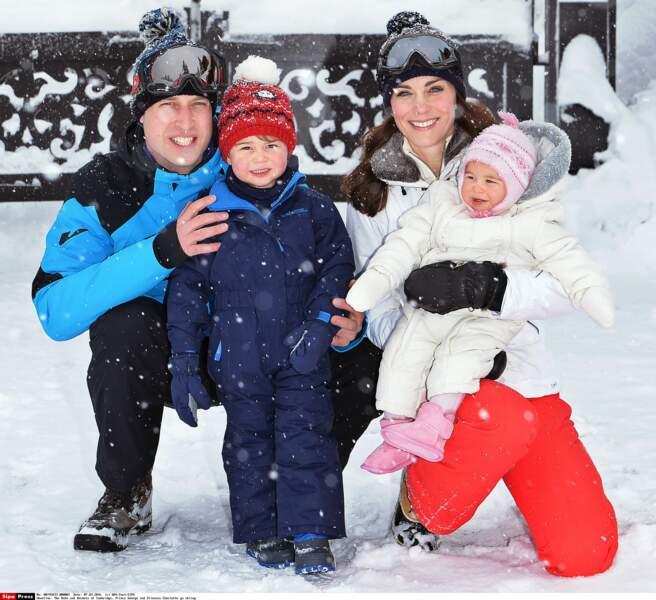 Même au ski, Kate habille sa fille de blanc, comme elle