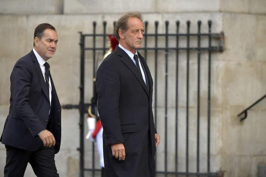 Vincent Lindon aux obsèques de Jacques Chirac, en l'église Saint-Sulpice, à Paris, le 30 septembre 2019.