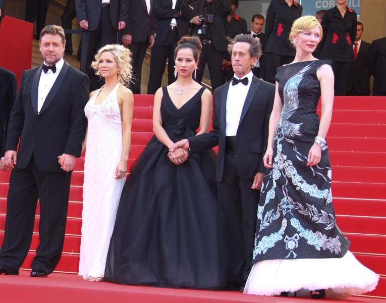 L'équipe de Robin des bois à la présentation du film à Cannes