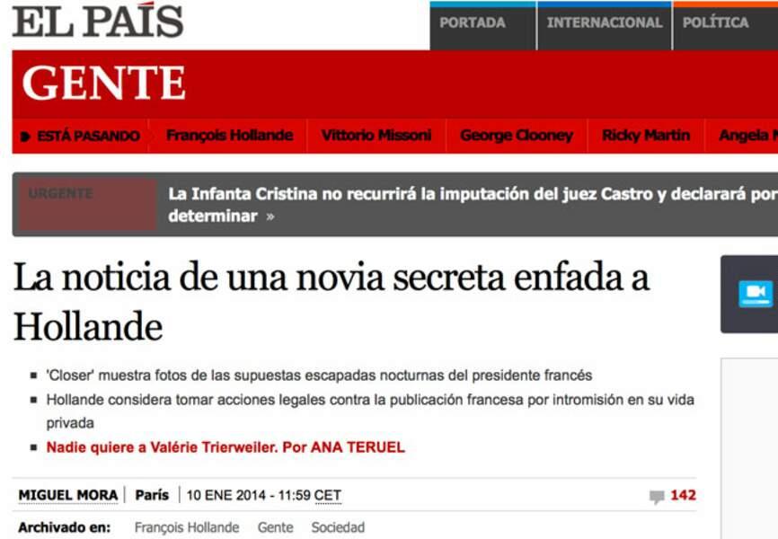 El País dénonce la liaison secrète du président