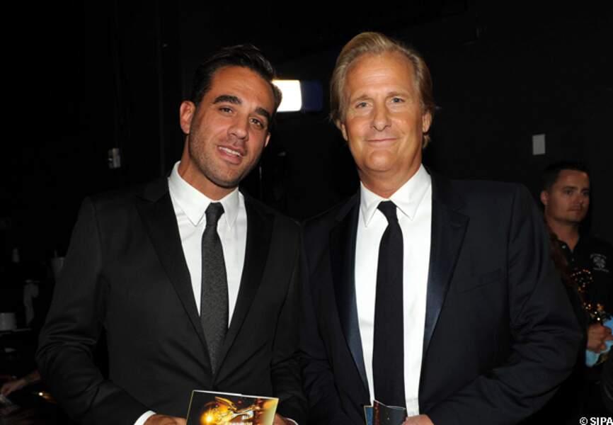 Jeff Daniels (à droite) meilleur acteur dramatique pour The newsroom