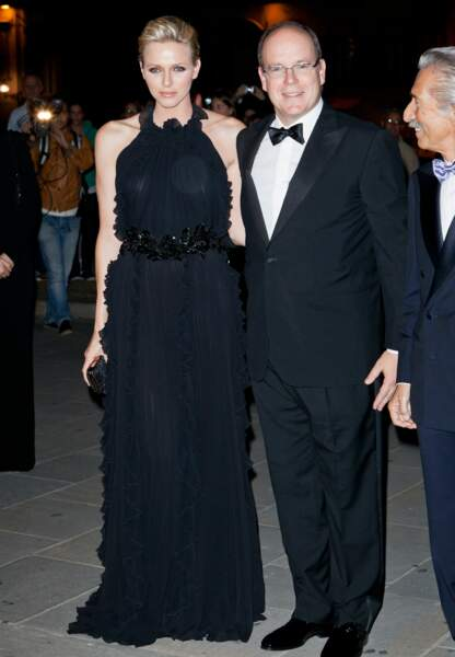 Total-look noir Gucci et sophistiqué à Florence