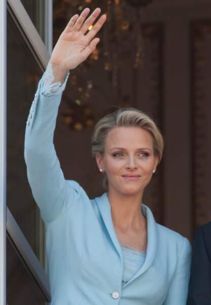 Le 1er juillet 2011, Charlène de Monaco privilégie le raffinement pour son mariage civil