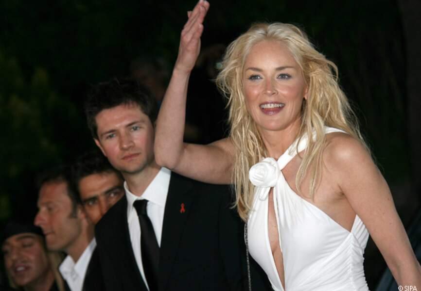 Sharon Stone au gala de l'amfAR en 2006