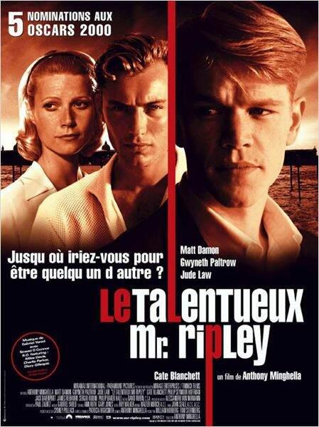 Le Talentueux Monsieur Ripley de Anthony Minghella en 1999