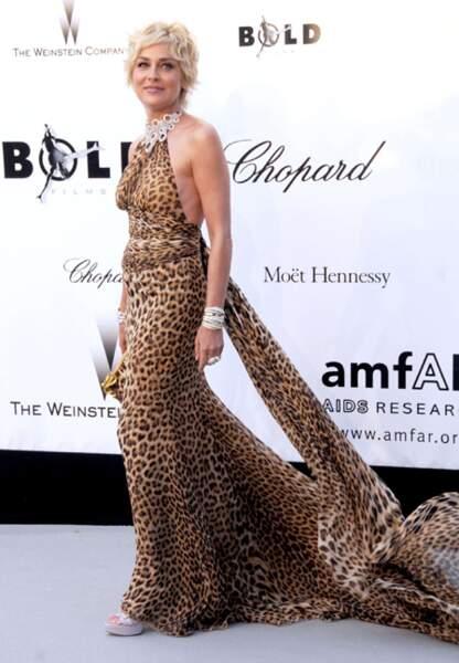 Sharon  Stone au gala de l'amfAR en 2008