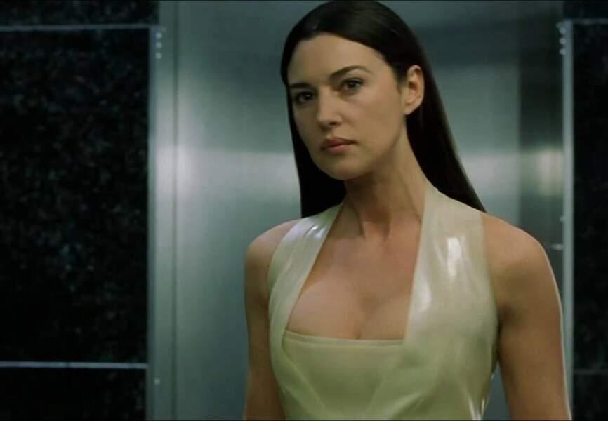 Monica Belluci dans Matrix Reloaded et Matrix revolutions des Wachowski