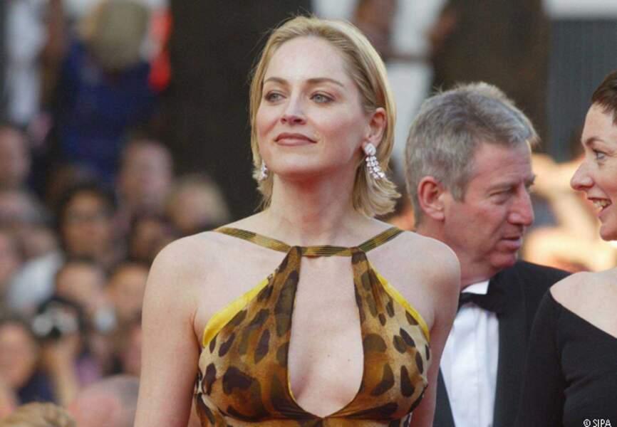 Sharon Stone lors de la cérémonie d'ouverture de 2002