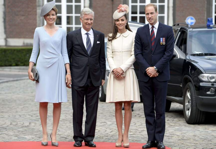 Photo de famille : Mathilde et Philippe de Belgique, le duc et la duchesse de Cambridge