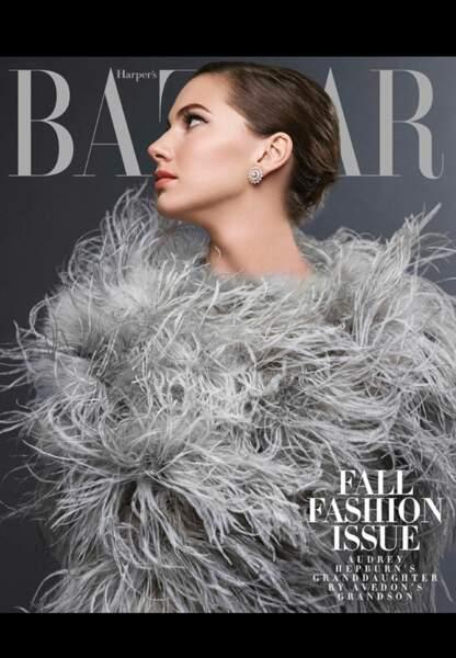 Même profil, même délicatesse, Emma Ferrer est la digne héritière de sa grand-mère Audrey Hepburn
