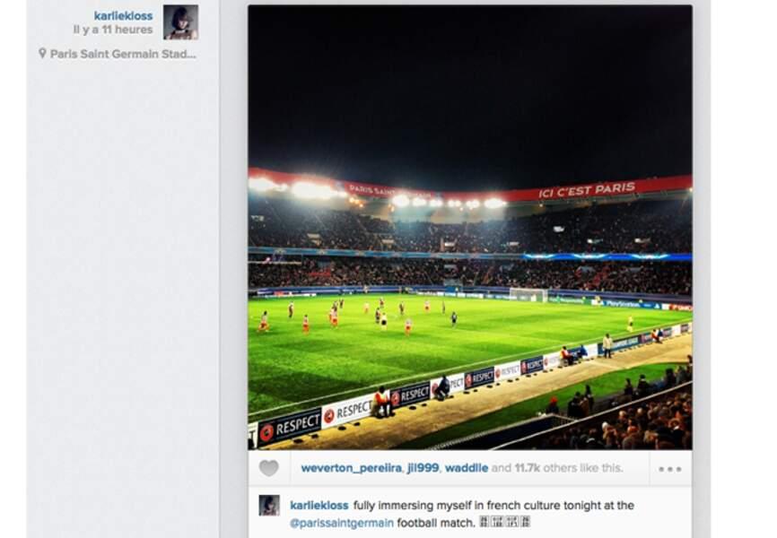 @karliekloss parfait sa connaissance de la culture française: après la mode... Le foot!