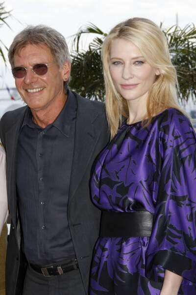 Cate Blanchett et son partenaire dans Indiana Jones, Harrison Ford