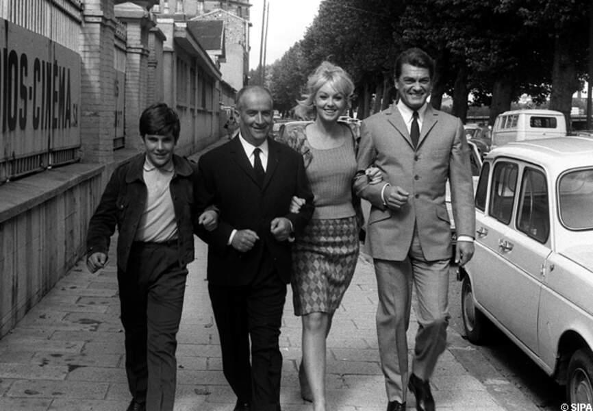 Louis de Funès avec Mylène Demongeot et Jean Marais, Fantomas