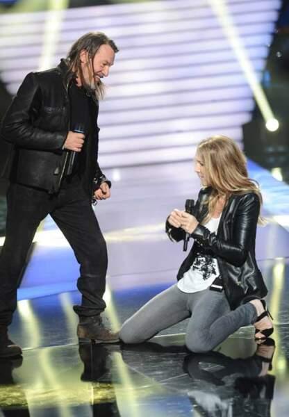 Duo avec Céline Dion, une sensation cuir