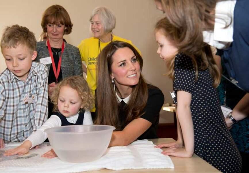 Kate marraine des enfants défavorisés