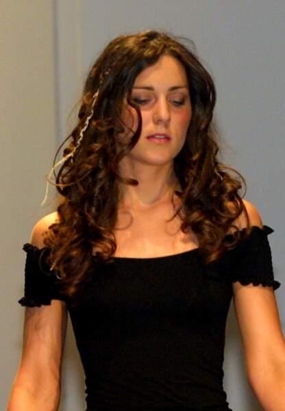 Kate Middleton en mars 2002 lors du fameux défilé où William a flashé sur elle