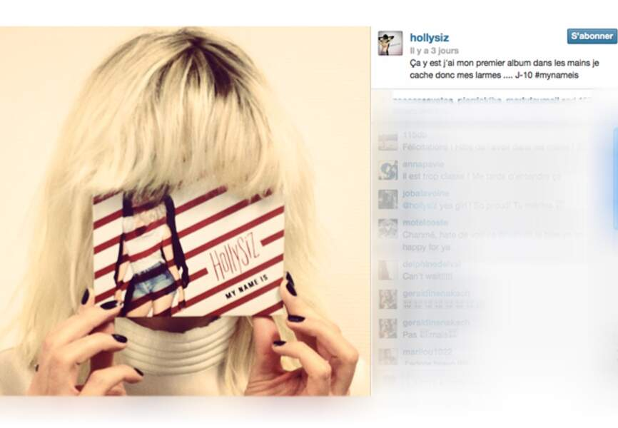 Cécile Cassel alias HollySiz fête en cheveux la sortie de son premier album