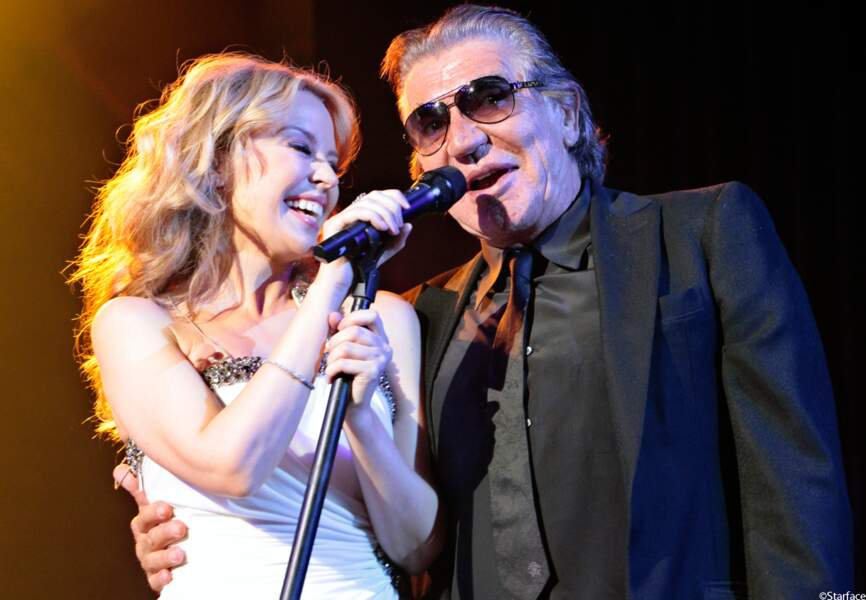 Kylie Minogue fête les 40 ans de la maison Roberto Cavalli en 2010.