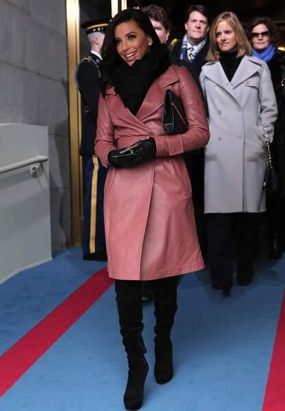 Eva Longoria arrive à la cérémonie d'investiture de Barack Obama