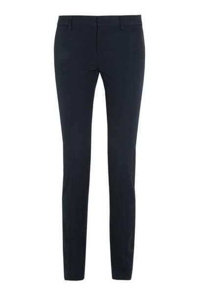 Saint Laurent – Pantalon de Smoking en laine avec finitions satin – 690€