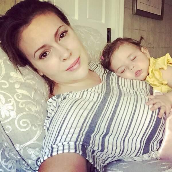Alyssa Milano et son deuxième enfant Elizabella, bientôt 1 an