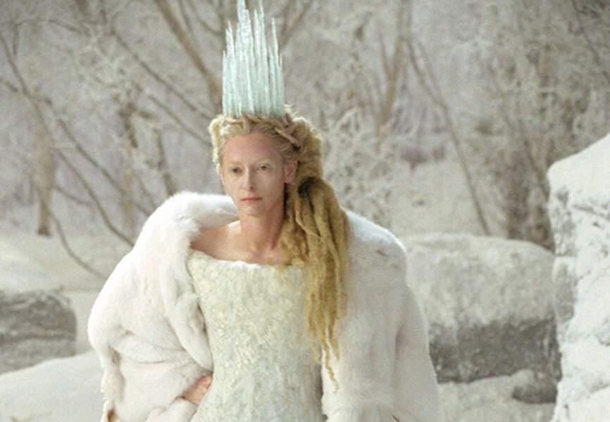 Tilda Swinton glaciale dans Le Monde de Narnia. (2005)