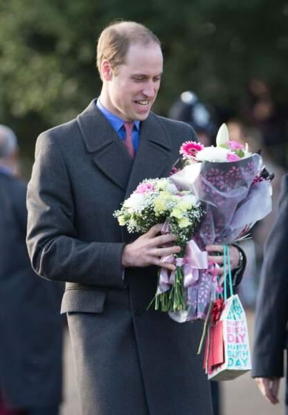Le prince William a lui aussi reçu des bouquets de fleurs