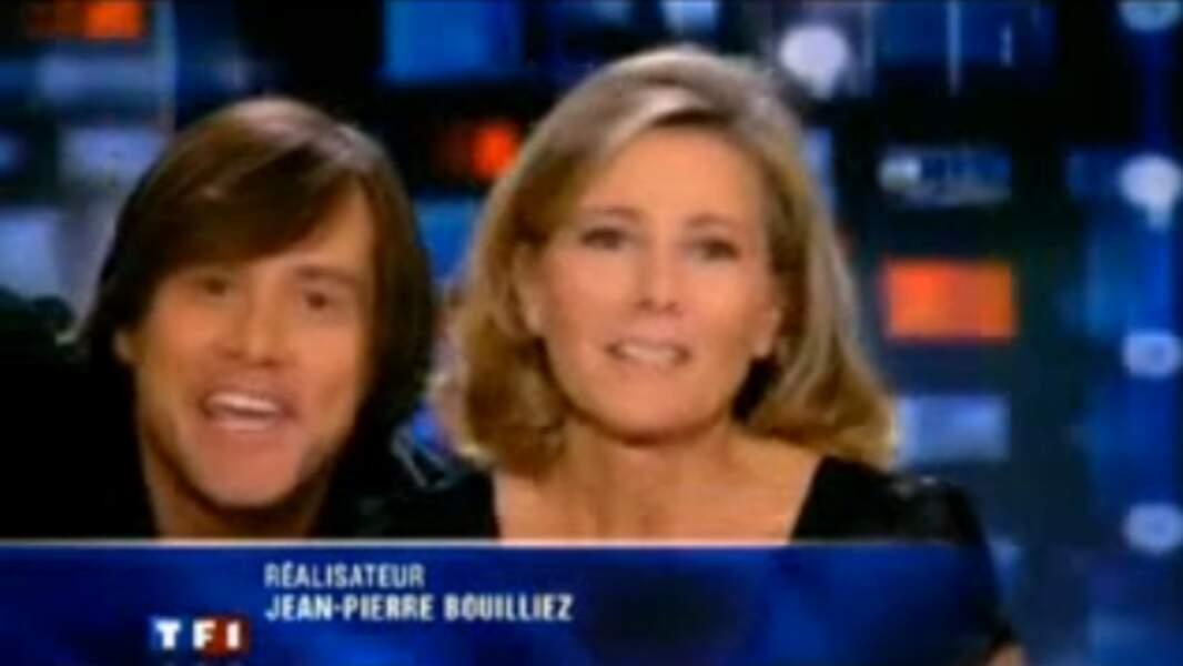 En 2010, Jim Carrey est l'invité de Claire Chazal