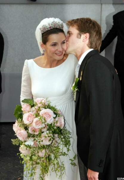 Le mariage en 2003, à Rome. Clotilde Courau devient princesse de Venise et de Piémont.