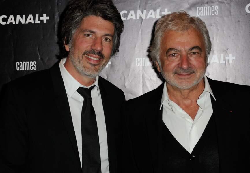 Fabien et Franck Provost à la soirée Canal +