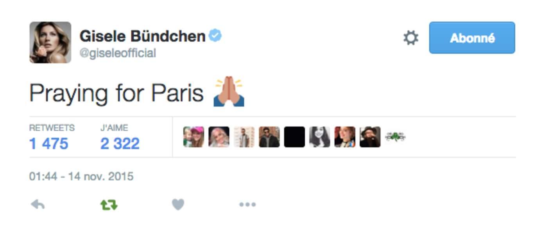 Gisele Bundchen prie pour Paris
