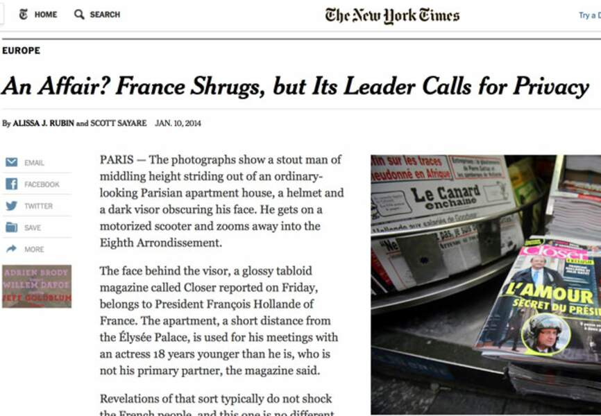 Le NY Times revient sur cette histoire