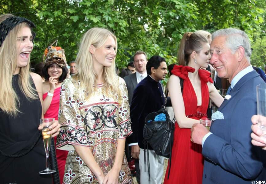 Cara et Popy Deleningne sympathise avec le prince