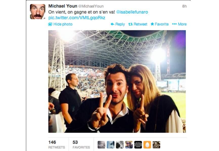 C'est mignon, @MichalYoun et @IsabelleFunaro vont au stade en amoureux...