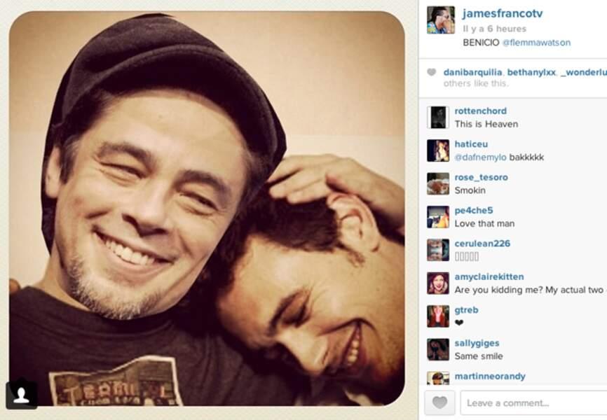 Ils s'aiment, ils s'adorent James Franco et Benico!