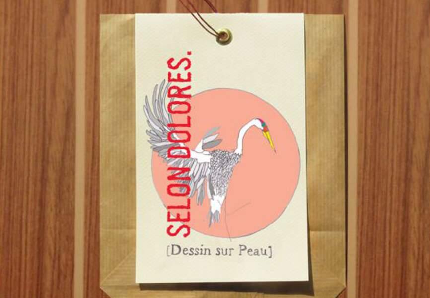 Selon Dolores - Collection Amour – set de quatre dessins sur peau – 12€ Selondolores.com