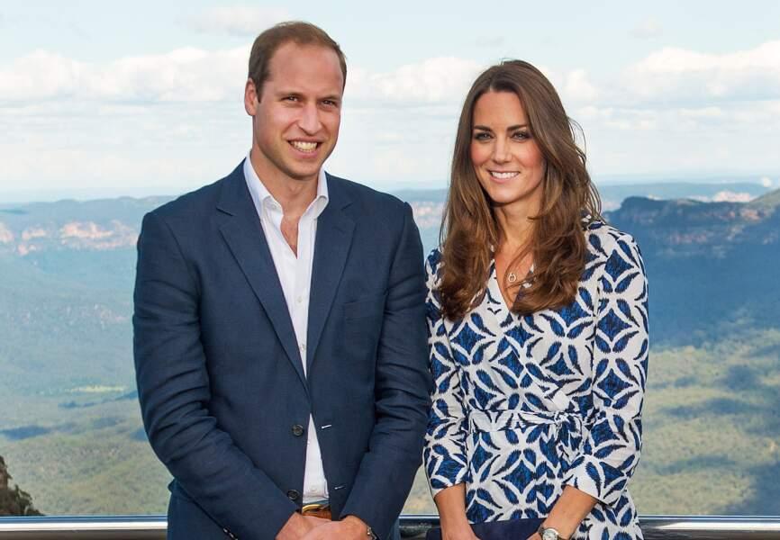 Le duc et la duchesse de Cambridge prennent la pose devant ce somptueux panorama