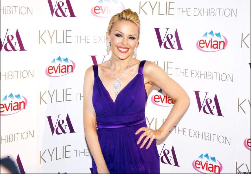 Au Vernissage de l'exposition Kylie The Exhibition