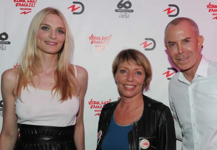 Sarah Marshall, Christine Pageot (Directrice Générale Damart France), et Jean-Claude Jitrois